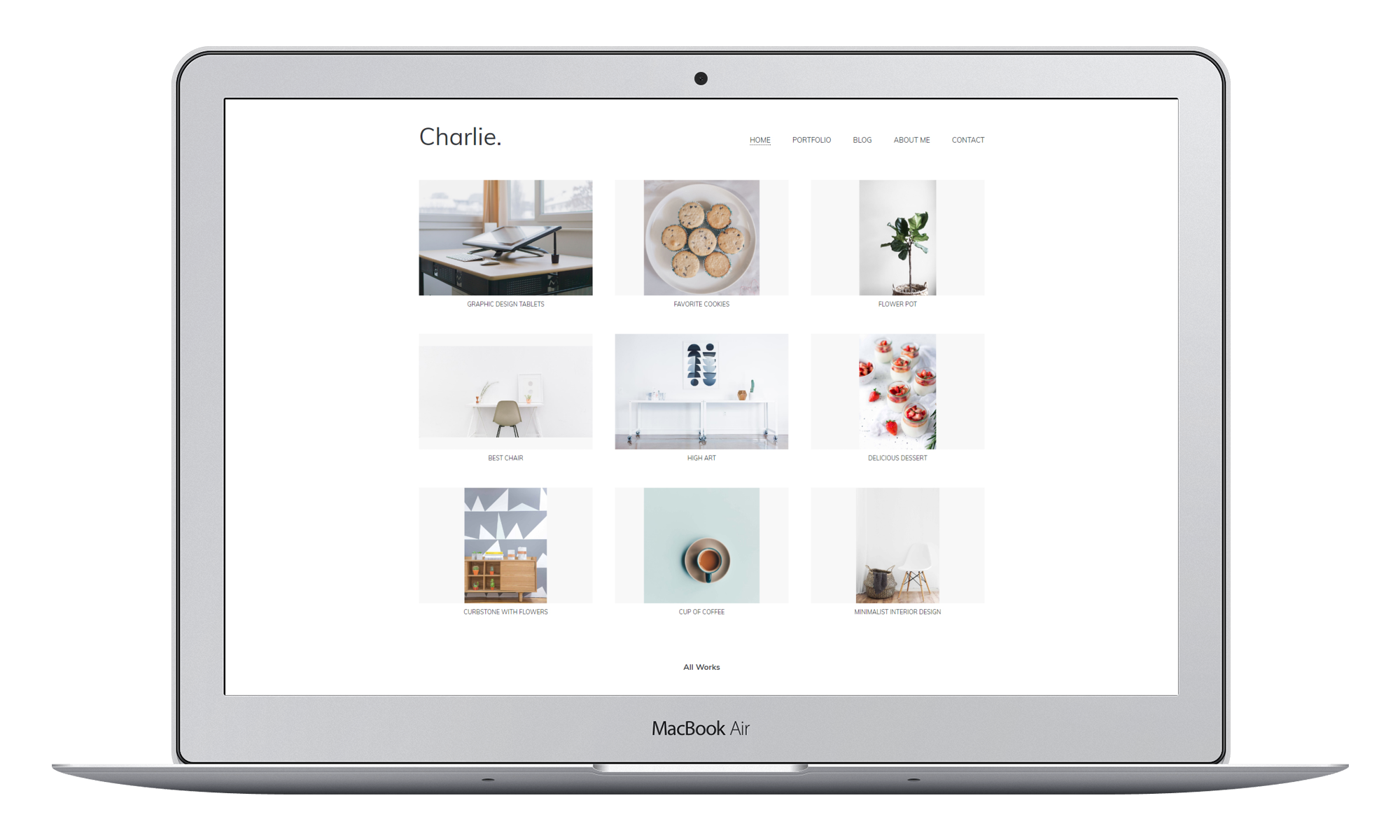 Charlie – Light Minimal Creative Portfolio WordPress Theme