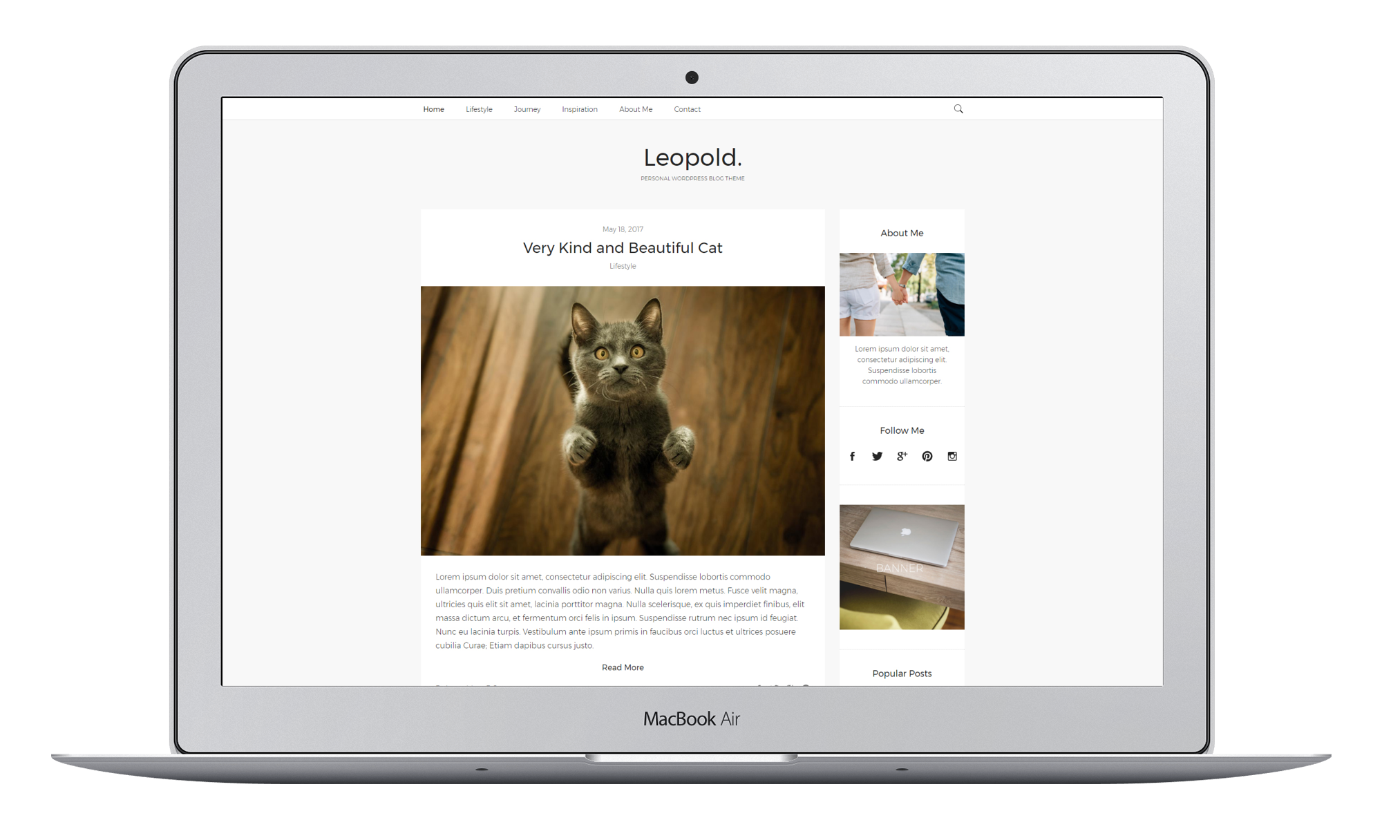 Leopold – Personal WordPress Blog Theme